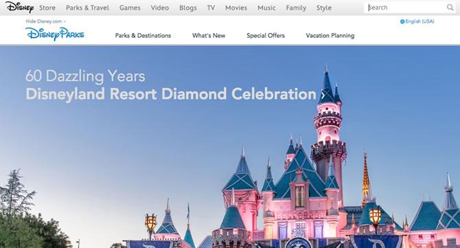 ディズニー webサイト