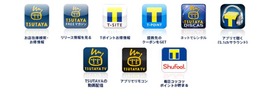 TSUTAYA DISCASやT-SITE、TSUTAYA TV